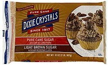 sugar light brown Dixie Crystals Nutrition info