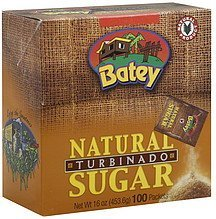 sugar natural, turbinado Batey Nutrition info