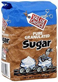 sugar pure granulated Value Choice Nutrition info