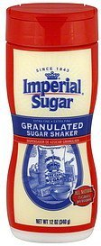 sugar shaker granulated, extra fine Imperial Sugar Nutrition info
