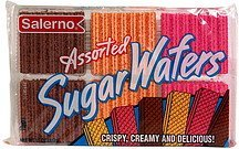 sugar wafers, assorted Salerno Nutrition info