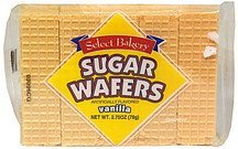 sugar wafers vanilla Select Bakery Nutrition info
