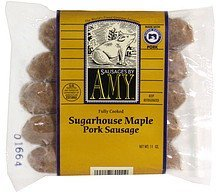 sugarhouse maple pork sausage fully cooked Sausages by Amy Nutrition info