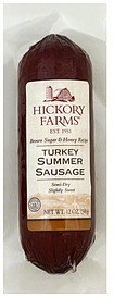 summer sausage turkey Hickory Farms Nutrition info