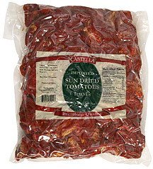 sun dried tomatoes imported, halves Castella Nutrition info