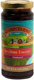 sun-dried tomatoes marinated Gilroy Farms Nutrition info
