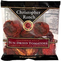 sun-dried tomatoes Christopher Ranch Nutrition info