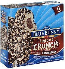 sundae crunch bar chocolate Blue Bunny Nutrition info