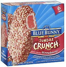sundae crunch bar strawberry Blue Bunny Nutrition info