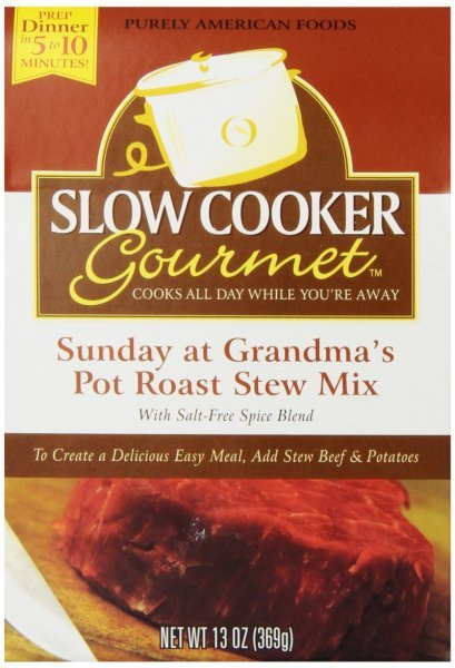 sunday at grandma's pot roast stew mix Slow Cooker Gourmet Nutrition info