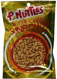 sunflower kernels butter toffee P. Nuttles Nutrition info