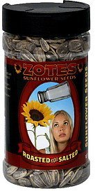sunflower seeds roasted and salted Zotes Nutrition info