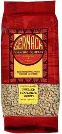 sunflower seeds shelled Germack Pistachio Company Nutrition info