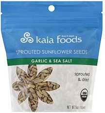 sunflower seeds sprouted, garlic & sea salt Kaia Foods Nutrition info