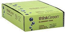 superfood nutrition bar blueberry noni Think Green Nutrition info