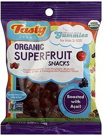 superfruit snacks organic Tasty Nutrition info