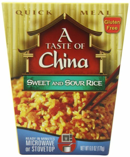 sweet and sour rice A Taste of China Nutrition info