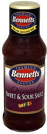 sweet and sour sauce oriental Bennetts Nutrition info