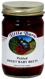 sweet baby beets pickled Little Barn Nutrition info