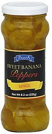 sweet banana peppers rings Pampa Nutrition info