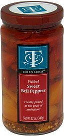 sweet bell peppers pickled Tillen Farms Nutrition info