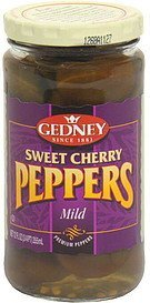 sweet cherry peppers mild Gedney Nutrition info