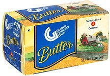 sweet cream butter Golden Guernsey Dairy Nutrition info
