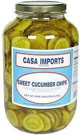 sweet cucumber chips Casa Imports Nutrition info