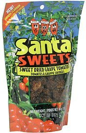 sweet dried grape tomatoes Santa Sweets Nutrition info
