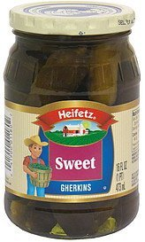 sweet gherkins Heifetz Nutrition info