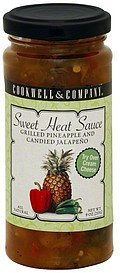 sweet heat sauce grilled pineapple and candied jalapeno Cookwell & Company Nutrition info