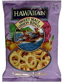 sweet maui onion rings Hawaiian Nutrition info
