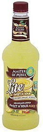 sweet n' sour mixer lite Master of Mixes Nutrition info