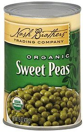 sweet peas organic Nash Brothers Trading Company Nutrition info