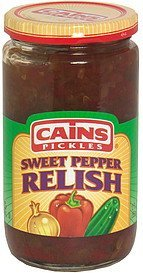 sweet pepper relish Cains Pickles Nutrition info