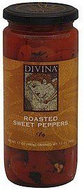 sweet peppers roasted Divina Nutrition info