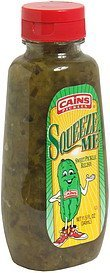 sweet pickle relish Cains Pickles Nutrition info