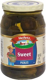sweet pickles Heifetz Nutrition info