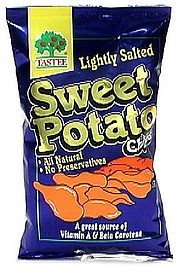 sweet potato chips lightly salted Tastee Nutrition info