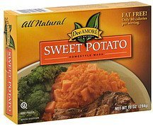 sweet potato homestyle mash Dee Amore Nutrition info