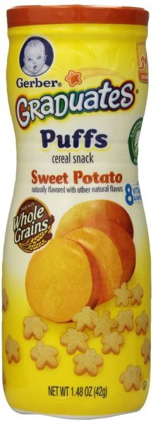 sweet potato puffs Gerber Graduates Nutrition info