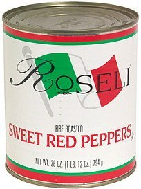 sweet red peppers, fire roasted Roseli Nutrition info
