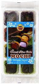 sweet rice cakes mochi, brown sugar Family Nutrition info