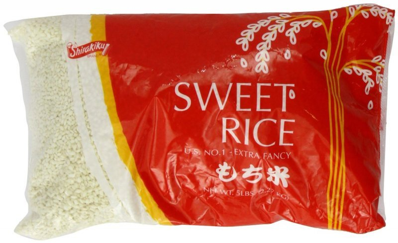 sweet rice Shirakiku Nutrition info