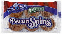 sweet rolls pecan spins Blue Bird Bakeries Nutrition info