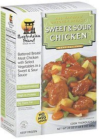 sweet & sour chicken Purely Asian Brand Nutrition info