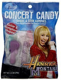 sweet & sour gummies hannah montana concert candy Disney Nutrition info