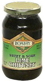 sweet & sour lime chutney Bombay Original Nutrition info