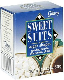 sweet suits sugar shapes Gilway Nutrition info
