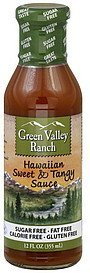 sweet & tangy sauce hawaiian Green Valley Ranch Nutrition info
